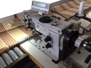 Máquina de coser plana, costuras rectas